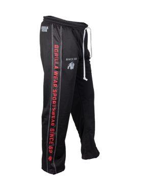 Fitness Broek Heren Zwart Rood - Gorilla Wear Functional Mesh-2