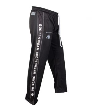 Fitness Broek Heren Zwart Wit - Gorilla Wear Functional Mesh-1
