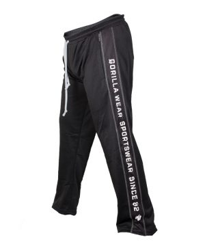 Fitness Broek Heren Zwart Wit - Gorilla Wear Functional Mesh-2