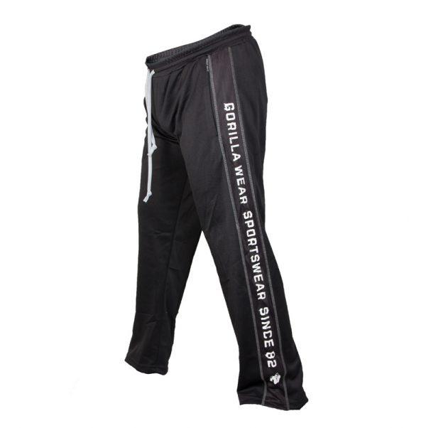 Fitness Broek Heren Zwart Wit - Gorilla Wear Functional Mesh-2
