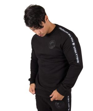 Fitness Fitness Trui Heren Zwart Saint Thomas - Gorilla Wear-1