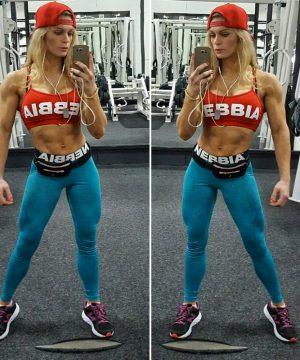 Fitness Legging Dames Blauw Gemeleerd - Nebbia 222-1