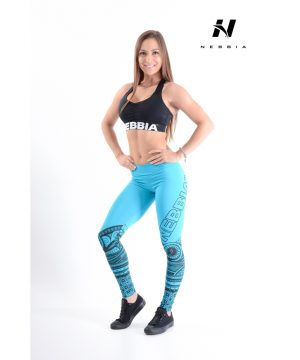 Fitness Legging Dames Blauw - Nebbia 215-1