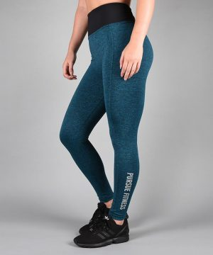 Fitness Legging Dames Blauw - Pursue Fitness Essential Flux Legging-1