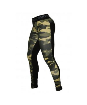 Fitness Legging Dames Camo Combi Groen - Nebbia 246-1