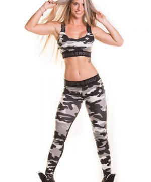 Fitness Legging Dames Camo Combi Wit - Nebbia 246-4
