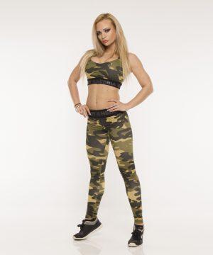 Fitness Legging Dames Camo Groen - Nebbia 203-1