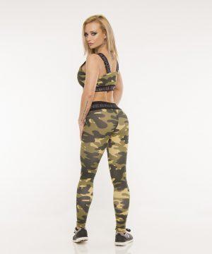Fitness Legging Dames Camo Groen - Nebbia 203-2