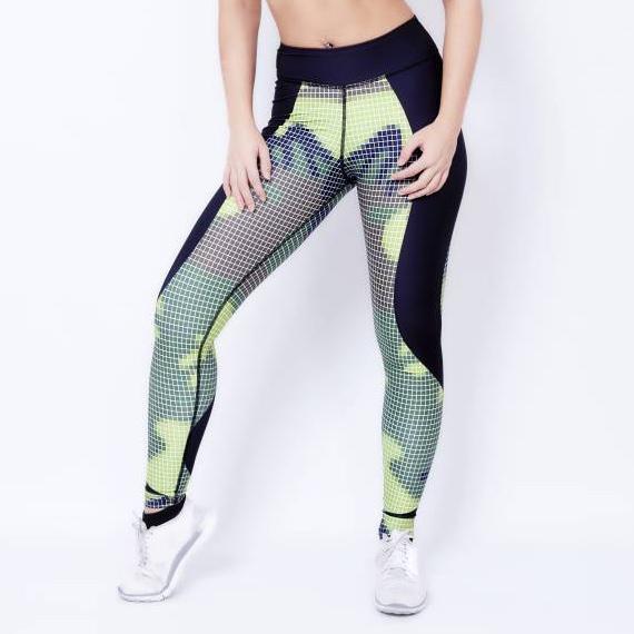 Fitness Legging Dames Camo - Mfit-1