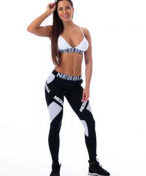 Fitness Legging Dames Combi Zwart - Nebbia 214-1
