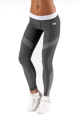 Fitness Legging Dames Dots Grijs - Muscle Brand-1