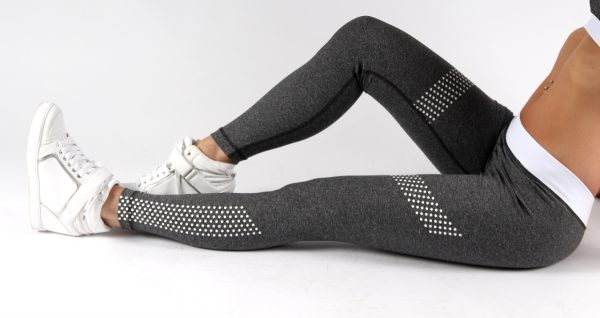Fitness Legging Dames Dots Grijs - Muscle Brand-4