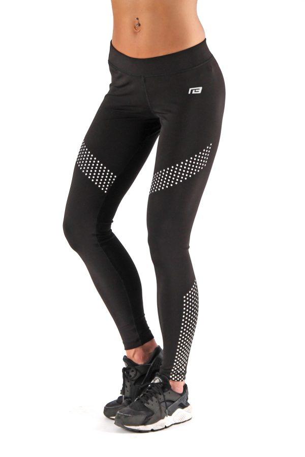 Fitness Legging Dames Dots Zwart - Muscle Brand-3
