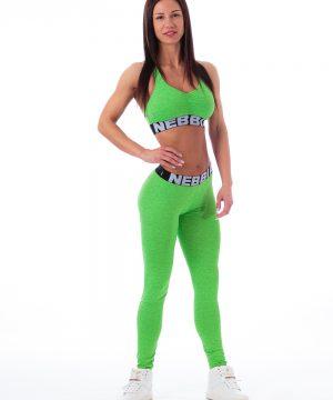Fitness Legging Dames Groen Gemeleerd - Nebbia 222-1