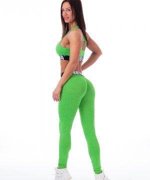 Fitness Legging Dames Groen Gemeleerd - Nebbia 222-2