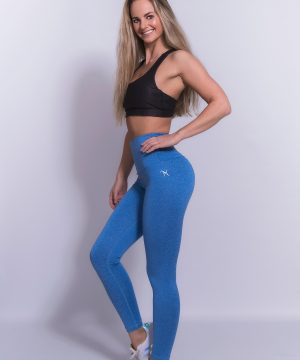 Fitness Legging Dames High Waist Blauw - Mfit-1