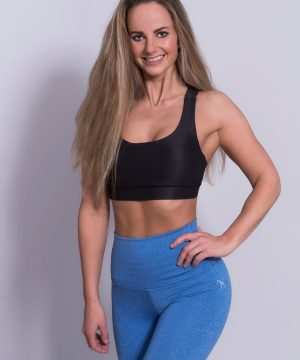 Fitness Legging Dames High Waist Blauw - Mfit-3