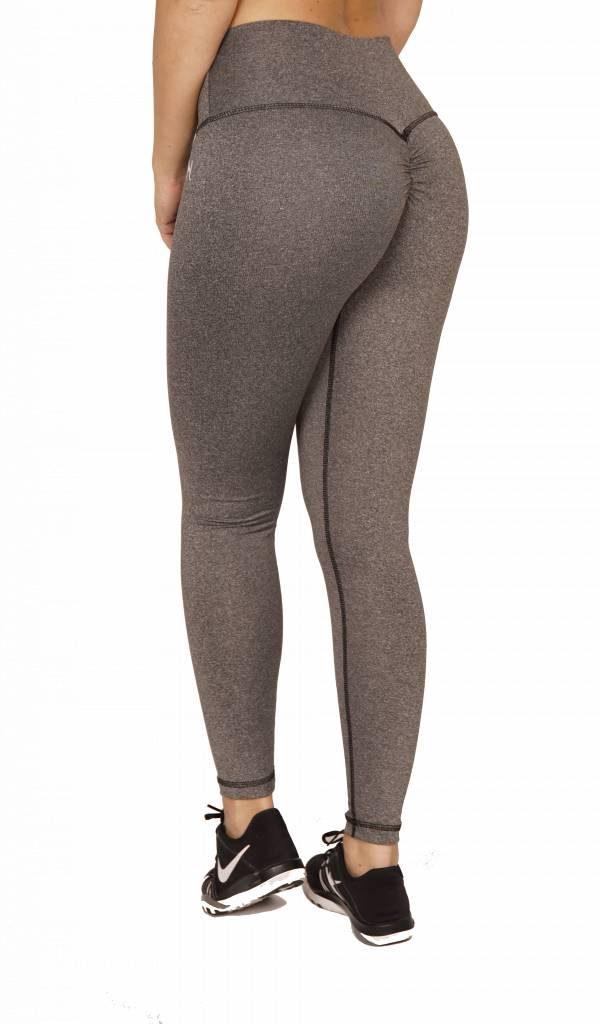 Fitness Legging Dames High Waist Grijs - Mfit-3