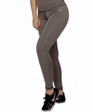 Fitness Legging Dames High Waist Grijs - Mfit-4