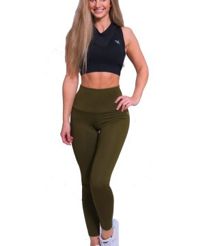 Fitness Legging Dames High Waist Kaki - Mfit-1
