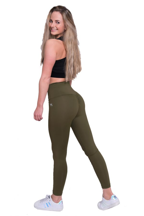 Fitness Legging Dames High Waist Kaki - Mfit-2