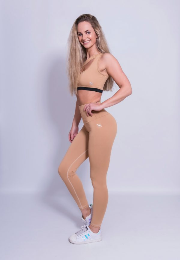 Fitness Legging Dames High Waist Nude - Mfit-1