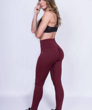 Fitness Legging Dames High Waist Rood - Mfit-2