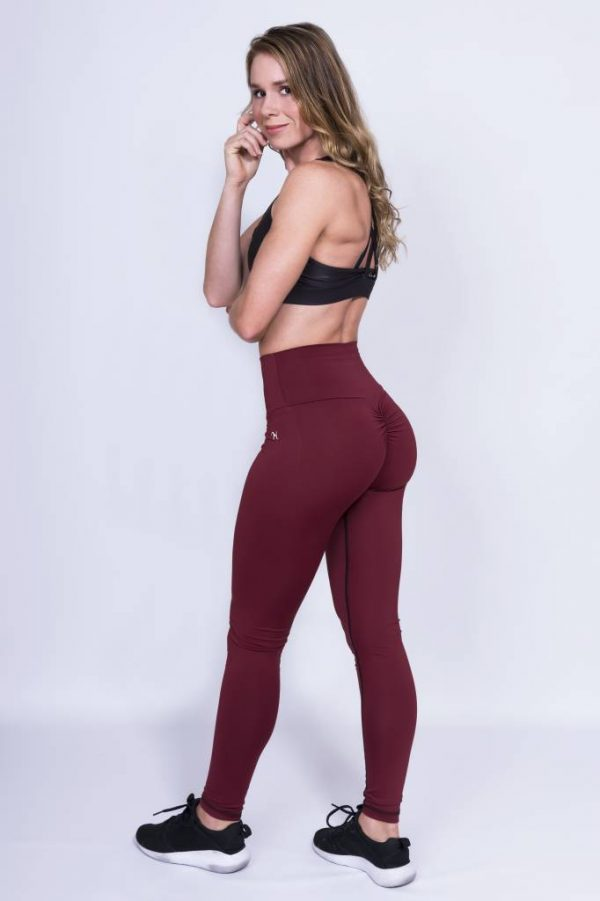 Fitness Legging Dames High Waist Rood - Mfit-2