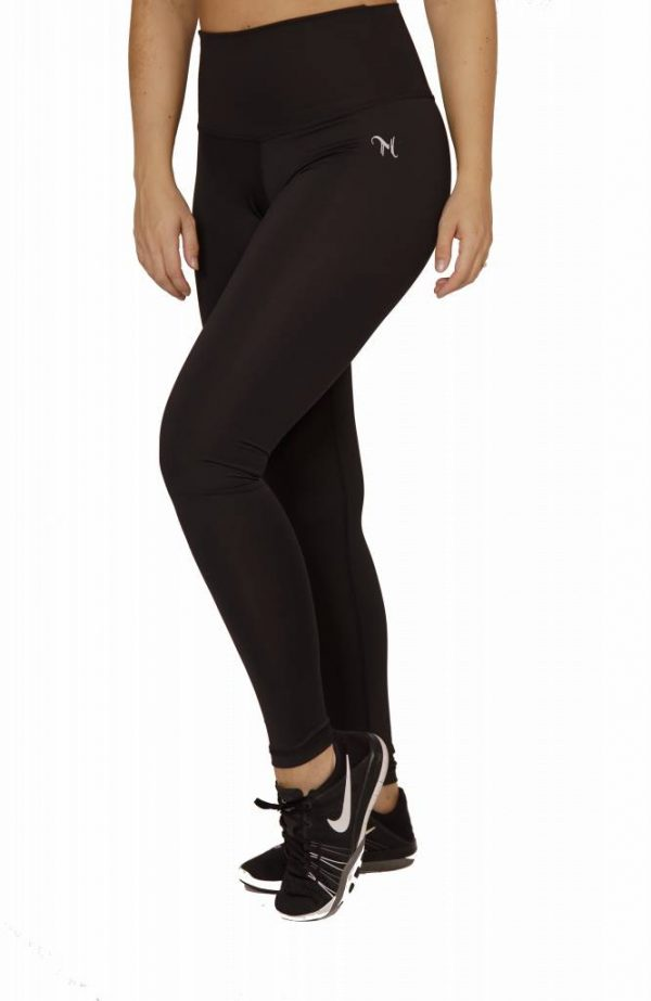 Fitness Legging Dames High Waist Zwart - Mfit-1