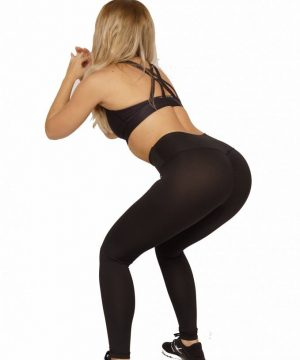Fitness Legging Dames High Waist Zwart - Mfit-4