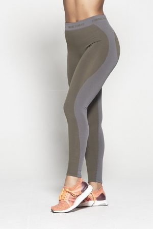 Fitness Legging Dames Kaki Seamless - Pursue Fitness-1