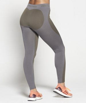 Fitness Legging Dames Kaki Seamless - Pursue Fitness-2