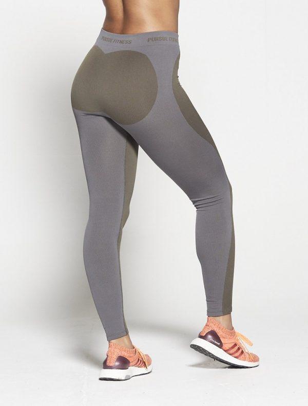 Fitness Legging Dames Kaki Seamless - Pursue Fitness-2