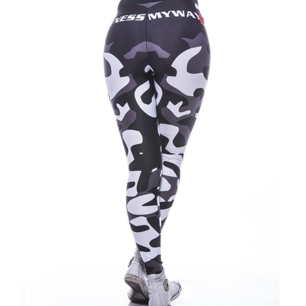 Fitness Legging Dames MyWay2Fitness - Camouflage Blackbird-2