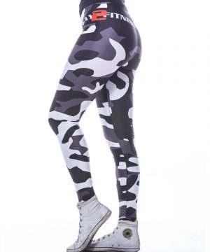 Fitness Legging Dames MyWay2Fitness - Camouflage Blackbird-3