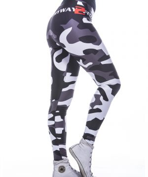 Fitness Legging Dames MyWay2Fitness - Camouflage Blackbird-4