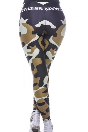 Fitness Legging Dames MyWay2Fitness - Camouflage Golden Olive-2
