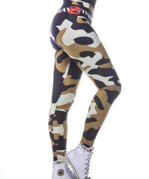 Fitness Legging Dames MyWay2Fitness - Camouflage Golden Olive-4