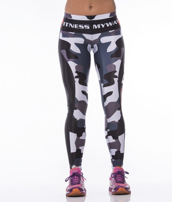 Fitness Legging Dames MyWay2Fitness - Earn Your Body - Camo-1