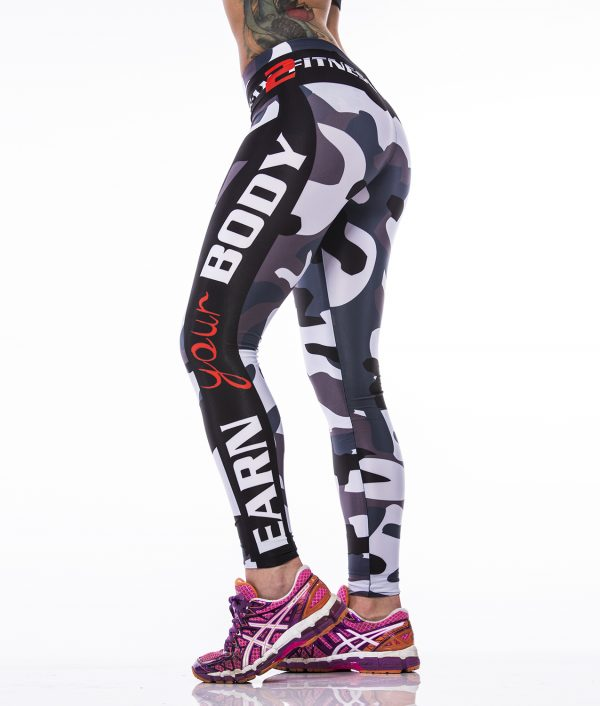 Fitness Legging Dames MyWay2Fitness - Earn Your Body - Camo-2