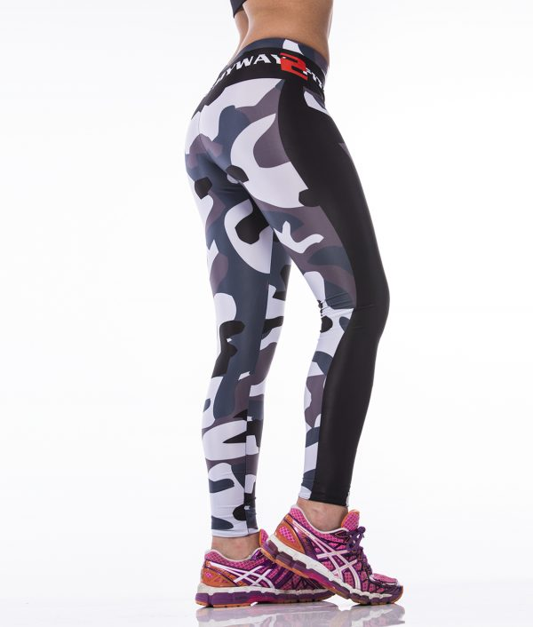Fitness Legging Dames MyWay2Fitness - Earn Your Body - Camo-3