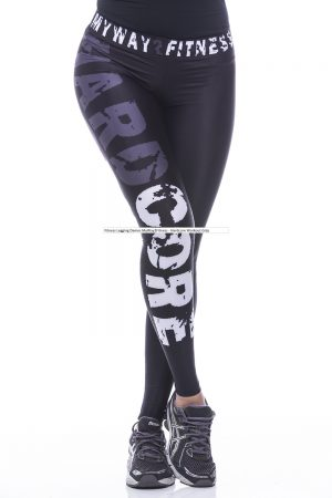 Fitness Legging Dames MyWay2Fitness - Hardcore Workout Grijs-1