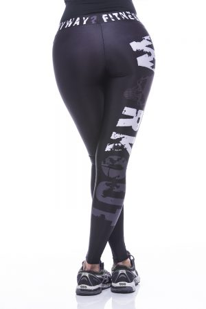 Fitness Legging Dames MyWay2Fitness - Hardcore Workout Grijs-2