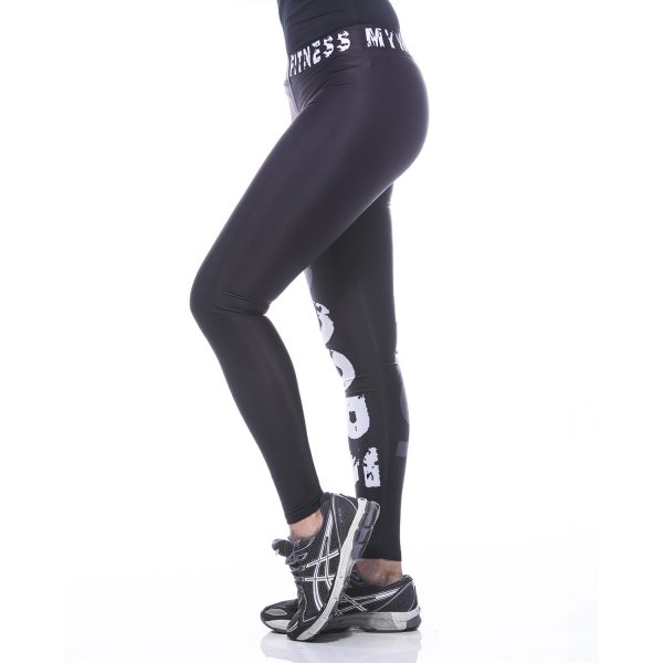 Fitness Legging Dames MyWay2Fitness - Hardcore Workout Grijs-3