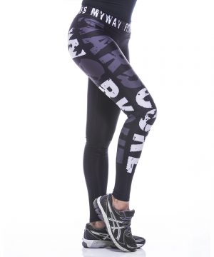 Fitness Legging Dames MyWay2Fitness - Hardcore Workout Grijs-4