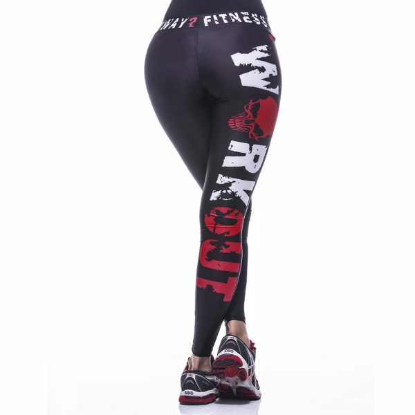 Fitness Legging Dames MyWay2Fitness - Hardcore Workout Rood-2