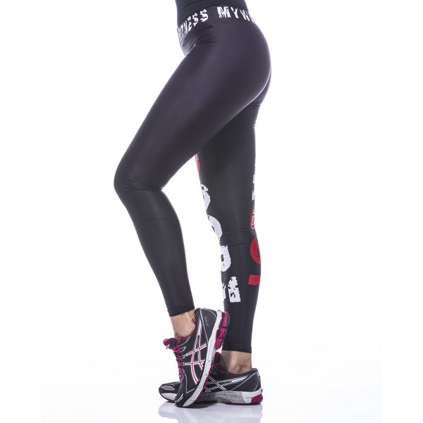Fitness Legging Dames MyWay2Fitness - Hardcore Workout Rood-3