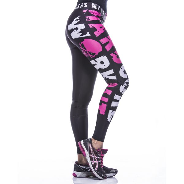 Fitness Legging Dames MyWay2Fitness - Hardcore Workout Roze-4