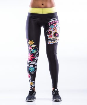 Fitness Legging Dames MyWay2Fitness - Sugarskull Perfection Sunrays-1