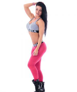 Fitness Legging Dames Rood Gemeleerd - Nebbia 222-1